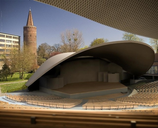 Tak bedzie wyglądal amfiteatr w Opolu po remoncie - zobacz wizualizacje.