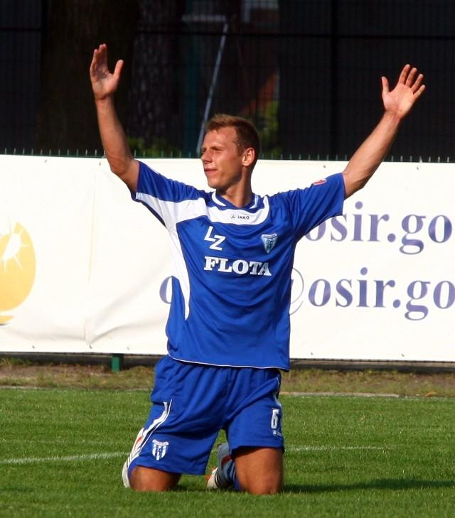 Marek Opałacz był jednym z najbardziej aktywnych graczy Floty w meczu ze Stomilem.
