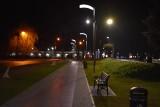 Rok temu został otwarty odnowiony Park Tysiąclecia w Krośnie Odrzańskim. Oglądaliśmy go już w różnych odsłonach... poza zimową