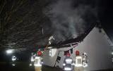 Pożar w gospodarstwie w Darżynie (wideo, zdjęcia)