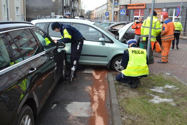Wypadek na skrzyżowaniu ulic Śląskiej i Focha w Częstochowie