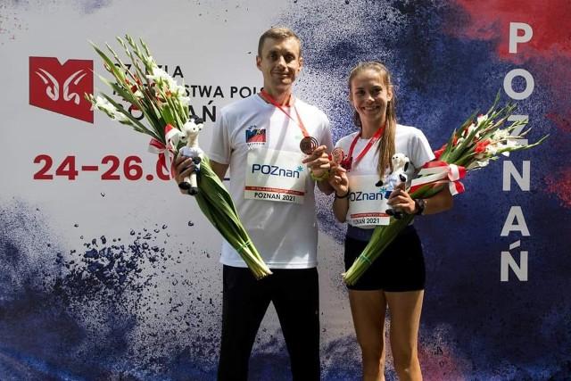 Monika Jackiewicz z Arturem Olejarzem