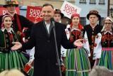 Wybory prezydenckie 2020. Andrzej Duda w Łowiczu. Prezydent rozpoczął objazd kraju ZDJĘCIA