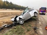 Wypadek na DK61 na trasie Górki-Sypniewo - Kobylin. Jedna osoba poszkodowana (zdjęcia)
