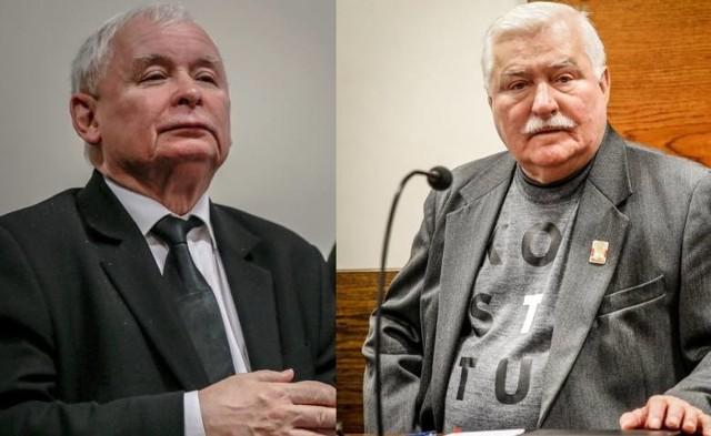 Zarówno Lecha Wałęsy, jak i Jarosława Kaczyńskiego zabrało 22.07.2019 na sali sądowej. Na zdjęciu: politycy podczas rozprawy w dn. 22 listopada 2018 r..