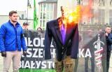 Incydenty ksenofobiczne w Białymstoku. Od rozbicia faszystów z Czwartej Edycji po spalenie kukły z podobizną posła