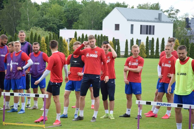 Ostatni trening Odry przed meczem w Radomiu