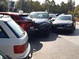 Wypadek czterech aut w pobliżu placu Grunwaldzkiego (ZDJĘCIA)