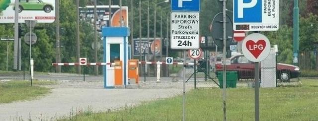 Jeden z parkingów buforowych w Poznaniu