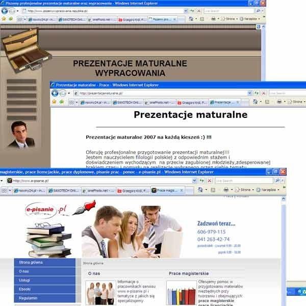W internecie aż roi się od stron, na których można kupić gotową prezentację na egzamin dojrzałości.