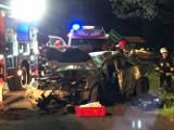 Śmiertelny wypadek w Dębinie koło Rowów [zdjęcia]