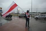 Białystok. Białorusini protestowali przeciwko współpracy Ikei z reżimem Aleksandra Łukaszenki (zdjęcia)
