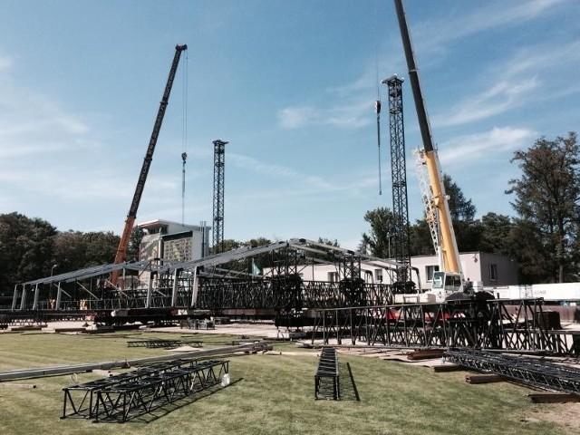 Linkin Park w Rybniku - budowa sceny