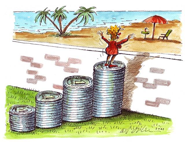 Oszczędzając samodzielnie 2 000 złotych miesięcznie będzie mógł przez 20 lat uzbierać prawie milion złotych.