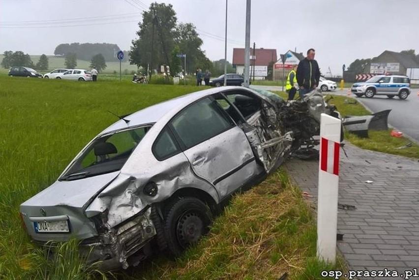 Wypadek między Gorzowem Śląskim i Praszką.