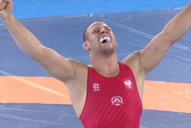 Arkadiusz Kułynycz szczęśliwy po wywalczeniu medalu!