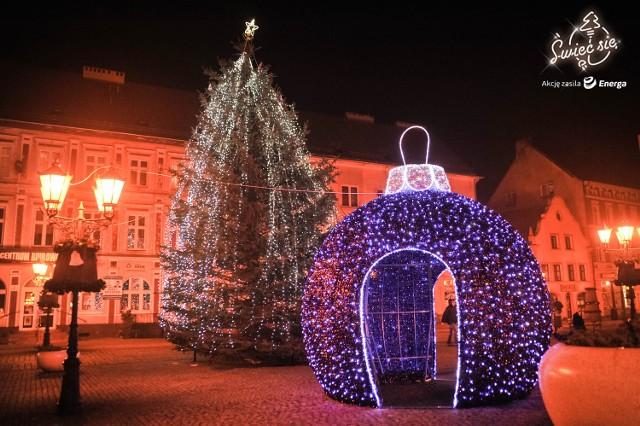 Tak wyglądają dekoracje świąteczne w Świebodzinie.