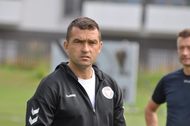 Łukasz Surma - trener piłkarzy Garbarni Kraków