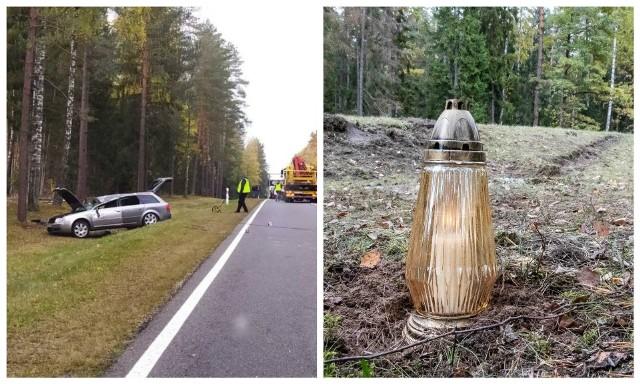 Przechody. Śmiertelny wypadek na drodze krajowej nr 65 relacji Białystok - Bobrowniki