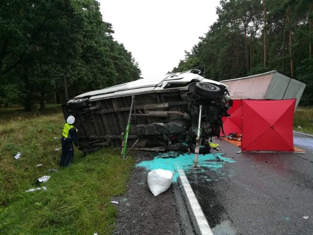 Cierpice. Śmiertelny wypadek na DK10 pod Toruniem. Droga zablokowana!