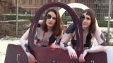 Nagi protest w Berlinie. Aktywistki przebrane za krowy sprzeciwiały się wykorzystaniu skóry w modzie