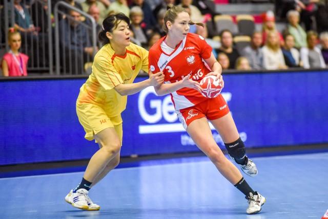 Monika Kobylińska była najskuteczniejszą naszą zawodniczką i zdobyła w środowym meczu sześć bramek
