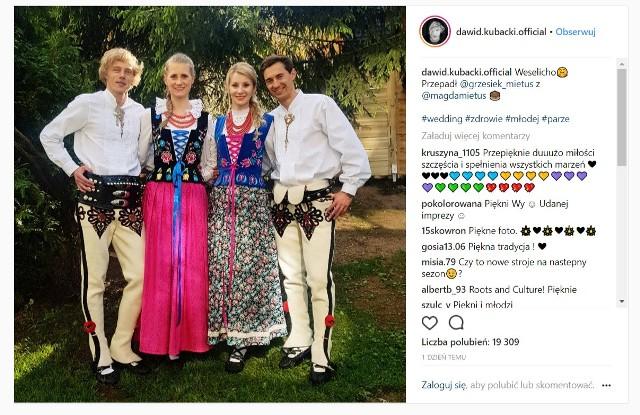 Kamil Stoch z żoną i Dawid Kubacki z dziewczyną bawili się w weekend na góralskim weselu.
