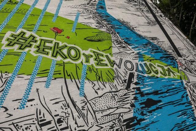 Mural autorstwa dr. Kamila Kuzki, uznanego na świecie artysty, powstał w ramach kampanii #EKOrEWOLUCJA