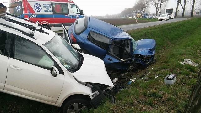 Wypadek na trasie Wrocław - Strzelin