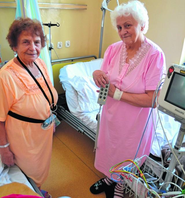 Agnieszka Rusok oraz Irena Matuszek cieszą się z nowego sprzętu. - WOŚP robi bardzo dobrą robotę - mówią pacjentki