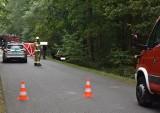 Śmiertelny wypadek w powiecie pleszewskim. Samochód wypadł z drogi i wpadł do rowu. Nie żyje 21-latek