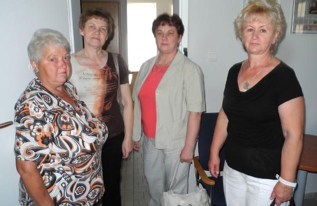 Od lewej panie: Władysława, Irena, Halina i Teresa. Stargardzianki są zaniepokojone decyzją NFZ. - Czemu ktoś chce zepsuć coś, co dobrze się sprawdza - pytają.