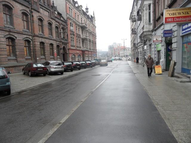 Ulica Pocztowa, tak wyglądała w poniedziałek
