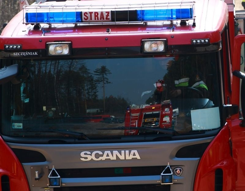 DK 19: Pożar ciężarówki na trasie Białystok - Sokółka. Ruch wahadłowy