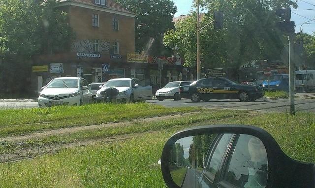 Kolizja na Wojska Polskiego w Szczecinie