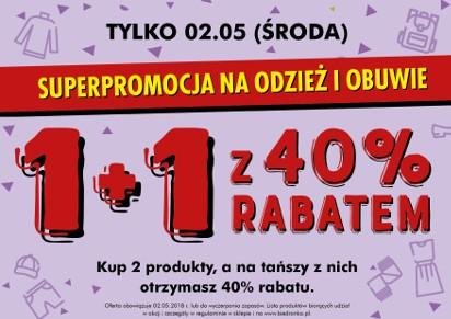 948482bf210da7 Promocja w sklepach Biedronka na długi weekend. 1+1 z 40-proc ...