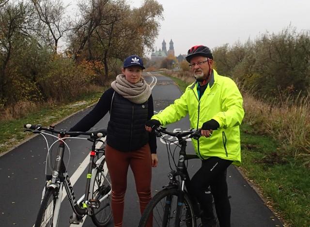 Jerzy Szociński z córką Kingą podczas jednej z bardzo wielu wycieczek rowerowych
