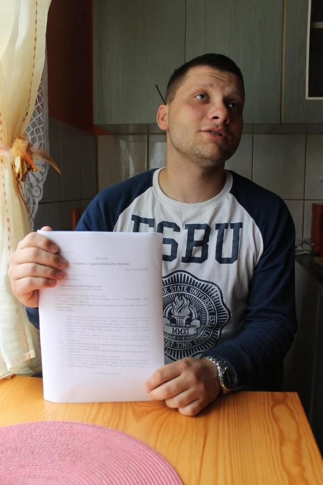 Pacjentka zmarła przed rokiem, a w sądzie sprawę przeciwko szpitalowi kontynuowały jej dzieci, m.in. Łukasz Drohomirecki.