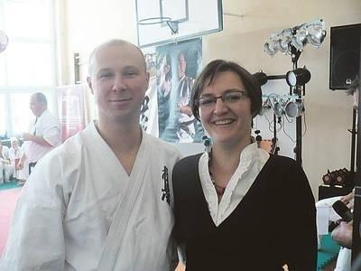 Wiceprezes TKK Kyukushin Izabela Karate i jej mąż sensei Grzegorz Popiołek Fot. Zdzisław Karaś