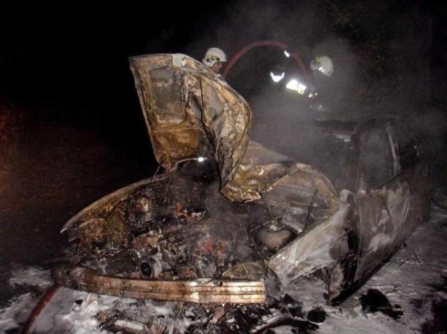 W Jarosławcu spłonęło BMW