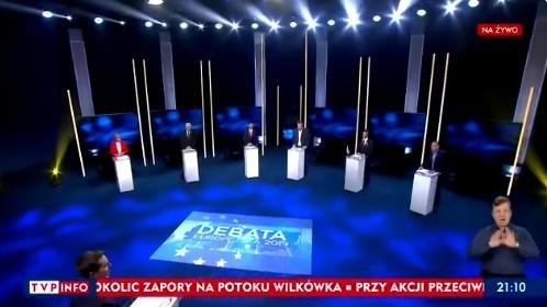 Wybory do PE. Debata przedwyborcza. Ostre starcie polityków w TVP