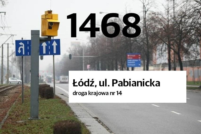 Lokalizacja i liczba zarejestrowanych naruszeń prawa...