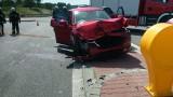 Wypadek w Daleszycach. Zderzenie dwóch samochodów, w których podróżowało w sumie osiem osób, w tym czworo dzieci. W akcji śmigłowiec