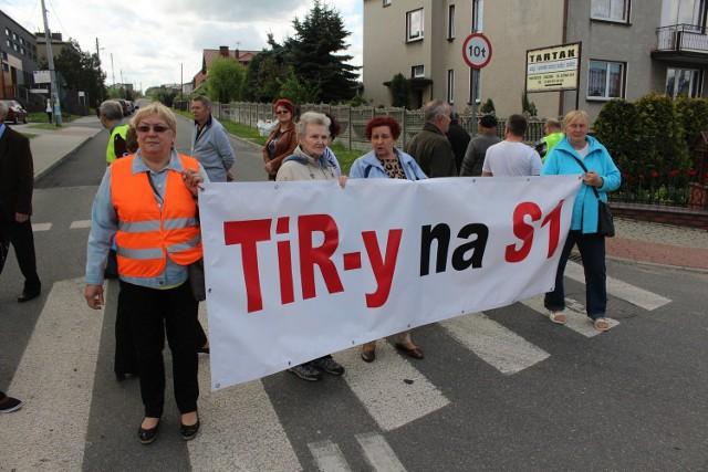 To kolejny protest w tej gminie. W lipcu i sierpniu ludzie blokowali DK78