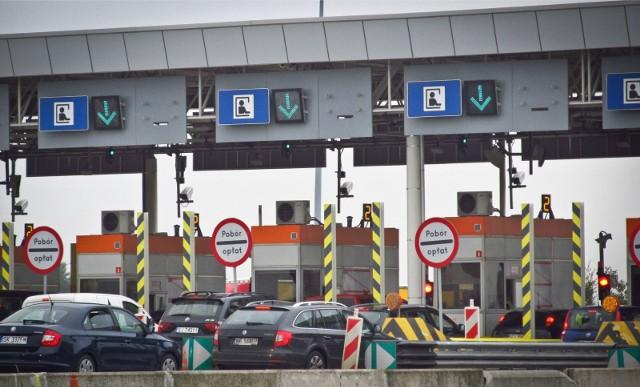 Autostrada A4 bramki do poboru opłat Karwiany.