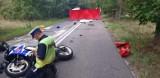 Śmiertelny wypadek pod Lipnem. Nie żyje motocyklista