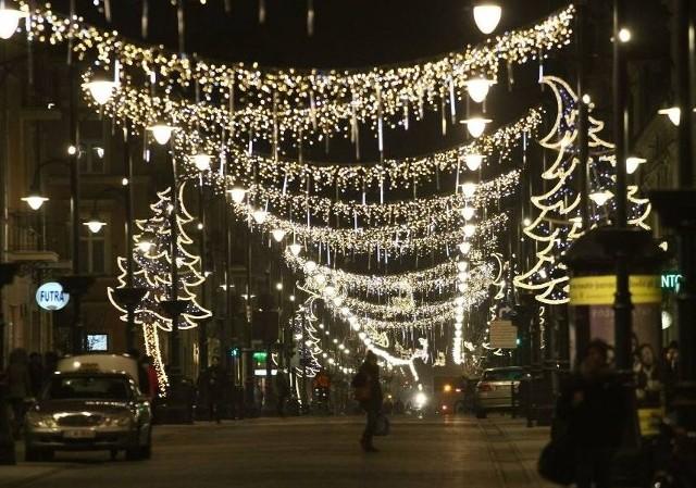 Kiedy zniknie iluminacja z ul. Piotrkowskiej?