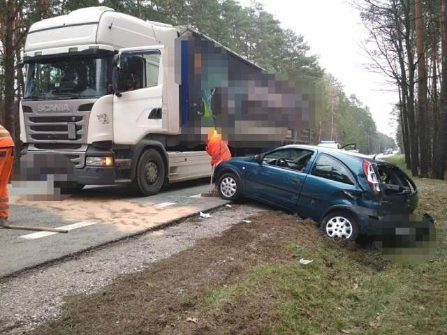 Na miejscu czwartkwego wypadku w Wiośnie
