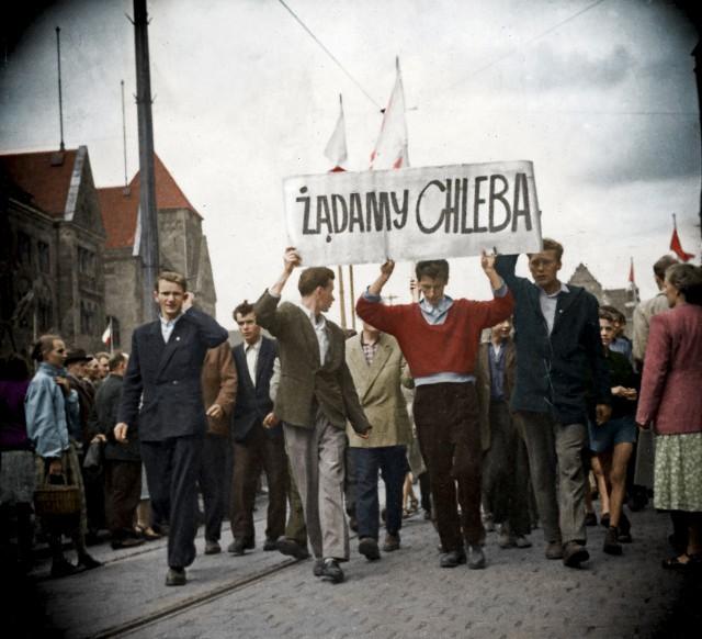 Ludzie wyszli na ulice Poznania 28 czerwca 1956 roku...