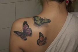 Motyl Na Ramieniu Coraz Więcej Pań Z Tatuażami Express